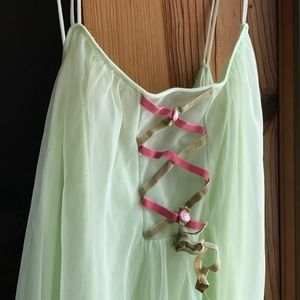 Vintage light green flowing dress or nightgown